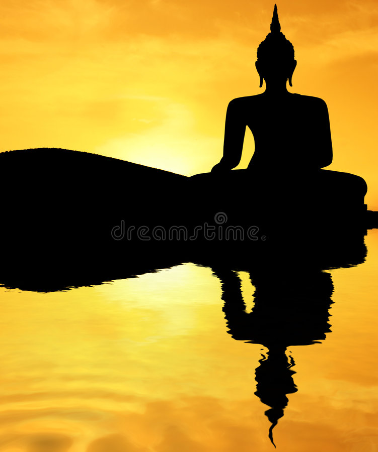 Free Sunset Buddha Royalty Free Stock Photography - 2221817