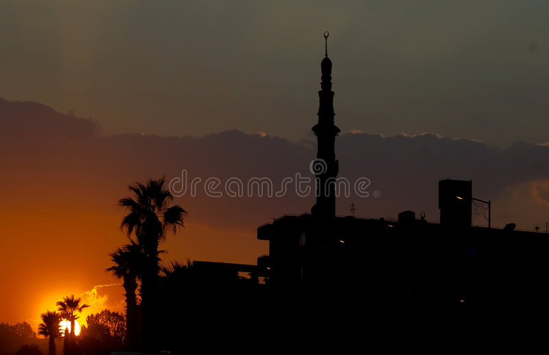 Download Sunset in Cairo stock photo. Image of dome, islam, built - 7218862
