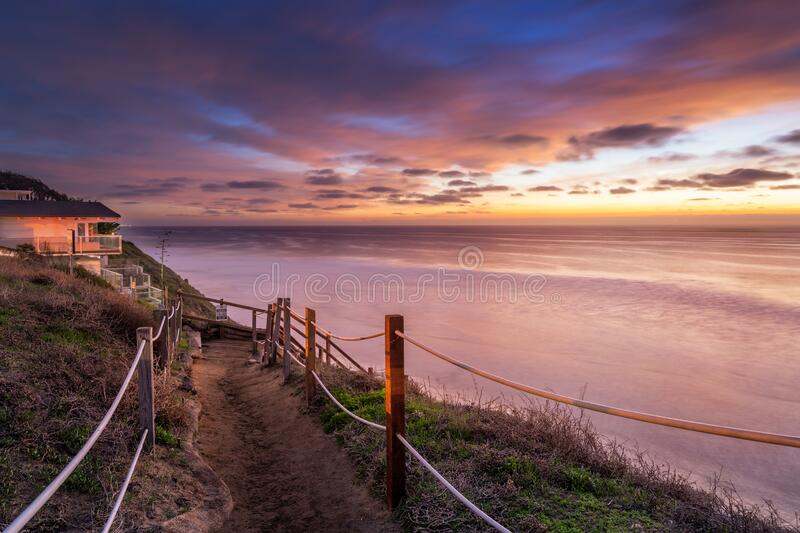 Sunset in California royalty free stock photo