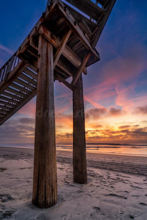 Sunset in California stock photography
