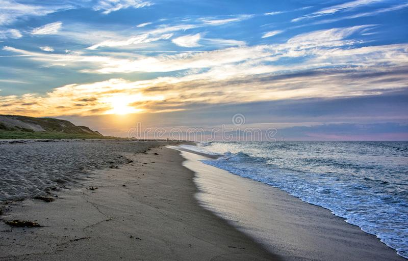 Sunset at Cape Cod National Seashore stock photo