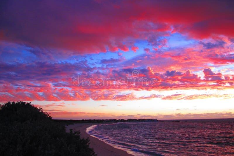 Sunset at Cape Range National Park, Western Australia royalty free stock photo