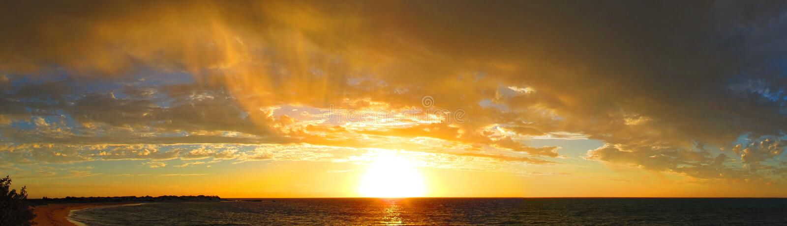 Sunset at Cape Range National Park, Western Australia royalty free stock images