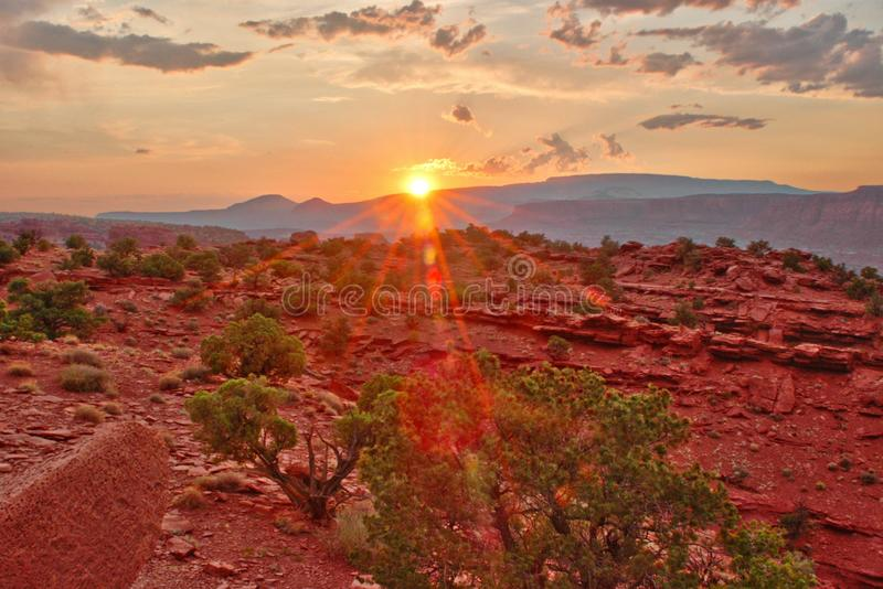 Sunset at Capitol Reef stock photo