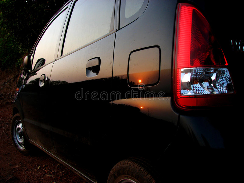 Download Sunset On The Car Royalty Free Stock Photography - Image: 2314257