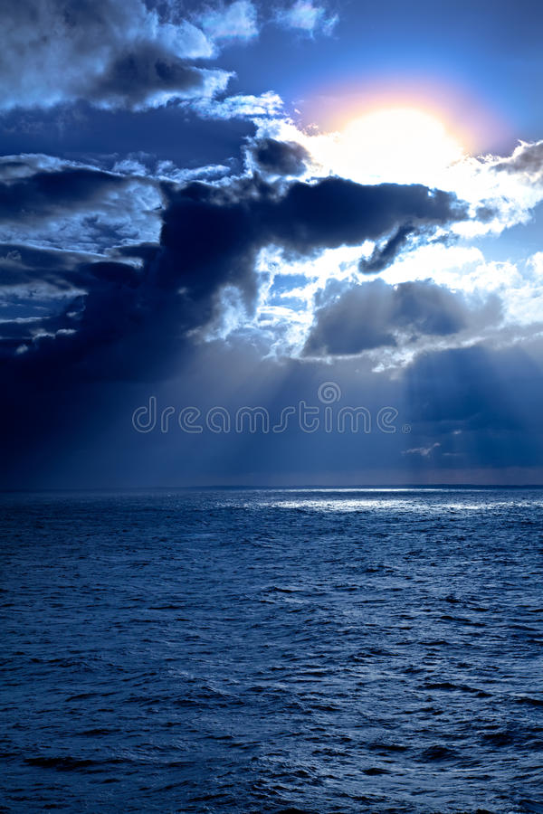 Sunset on the Caribbean Sea royalty free stock photo