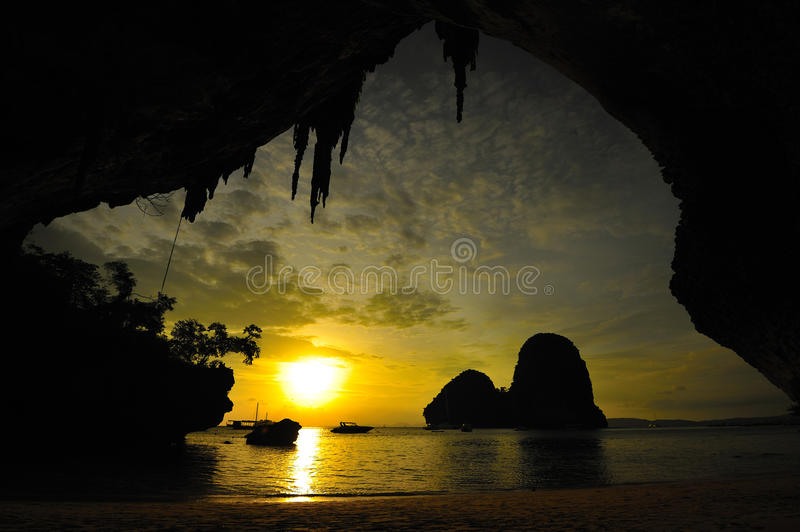 Download Sunset At The Cave Stock Photography - Image: 20873172