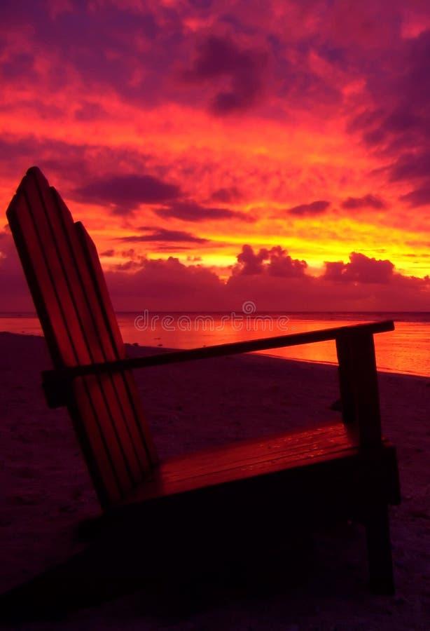Sunset Chair stock photo