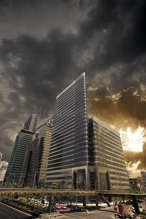 Download Sunset city stock image. Image of built, offices, empire - 15871937