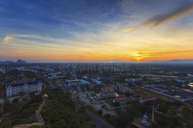 Sunset City Scape Royalty Free Stock Photo