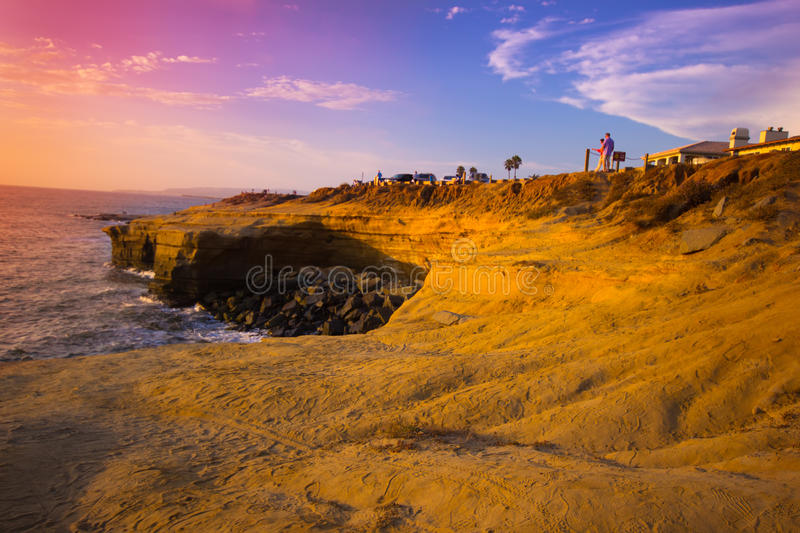 Download Sunset Cliffs CA editorial photography. Image of rocks - 26969267