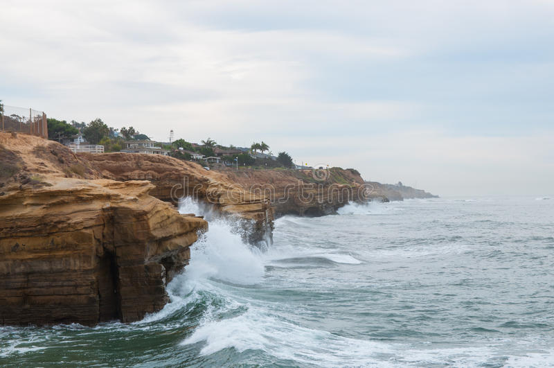 Sunset Cliffs in San Diego royalty free stock images