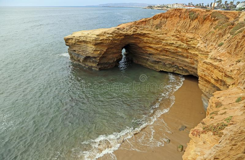 Sunset cliffs in San Diego stock images