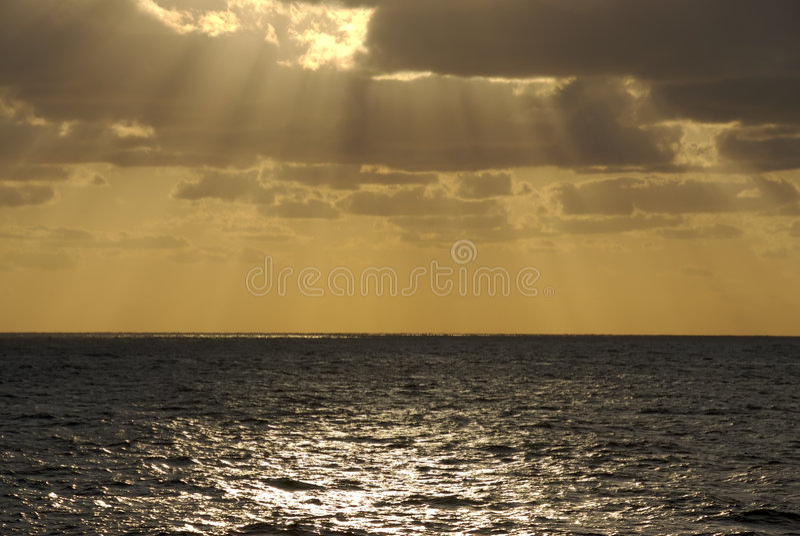Download Sunset Cloudburst at Sea stock image. Image of nature - 2563503