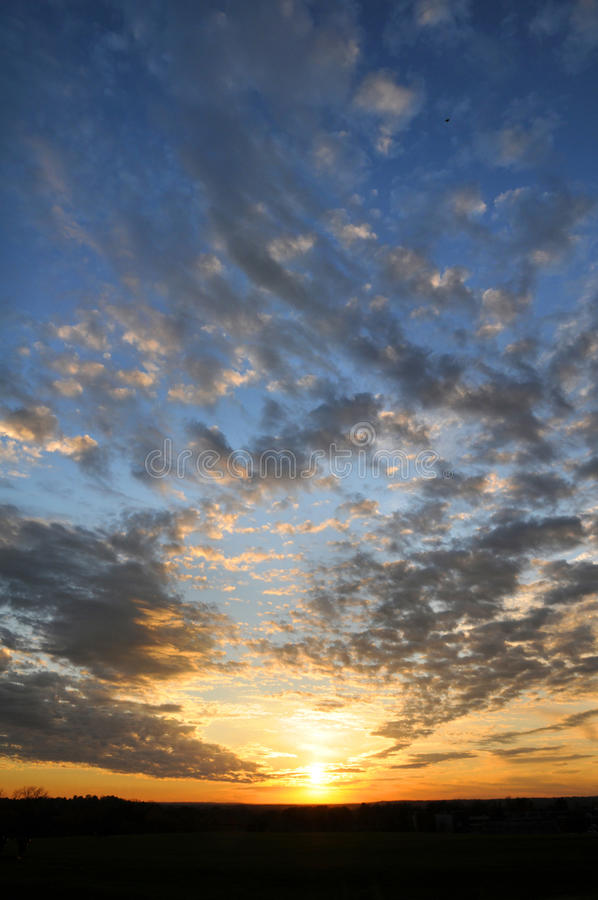 Download Sunset With Clouds stock photo. Image of fall, light - 11878904