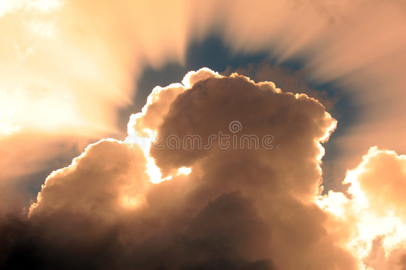 Download Sunset clouds stock photo. Image of holiday, orange, cables - 4494436