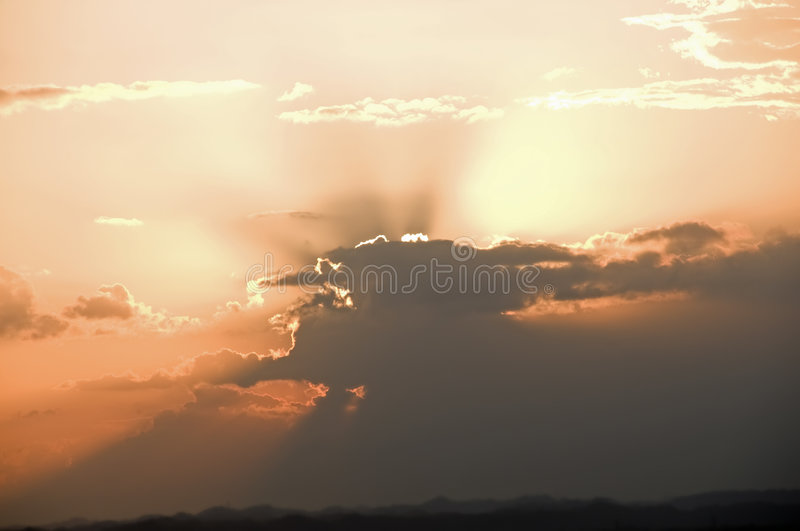 Download Sunset in clouds stock photo. Image of horizon, bliss - 8150672