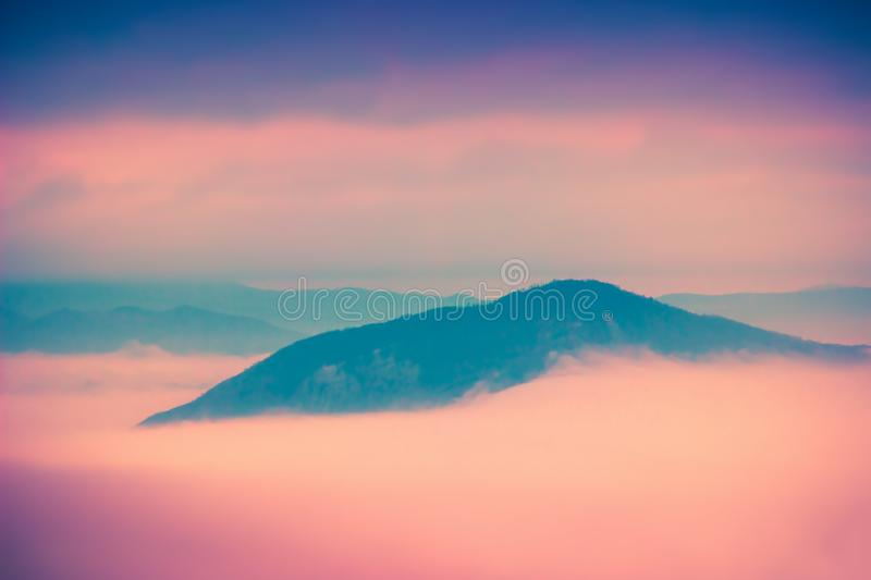 Sunset clouds above Apennine mountain in Italy. Nature landscape. Sunset clouds above Apennine mountains in Italy. Nature landscape stock photo