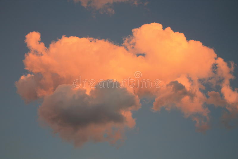 Sunset Clouds. Sunset as a storm approaches stock photo