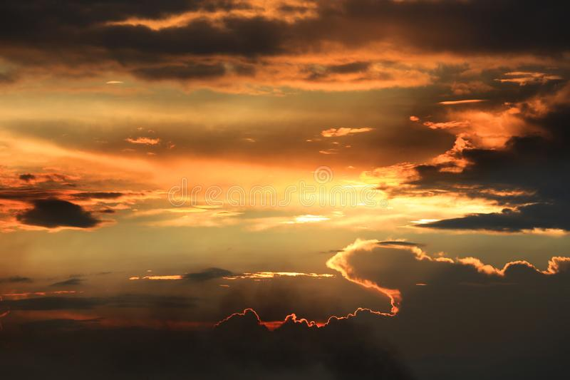 Evening clouds in sky royalty free stock photography