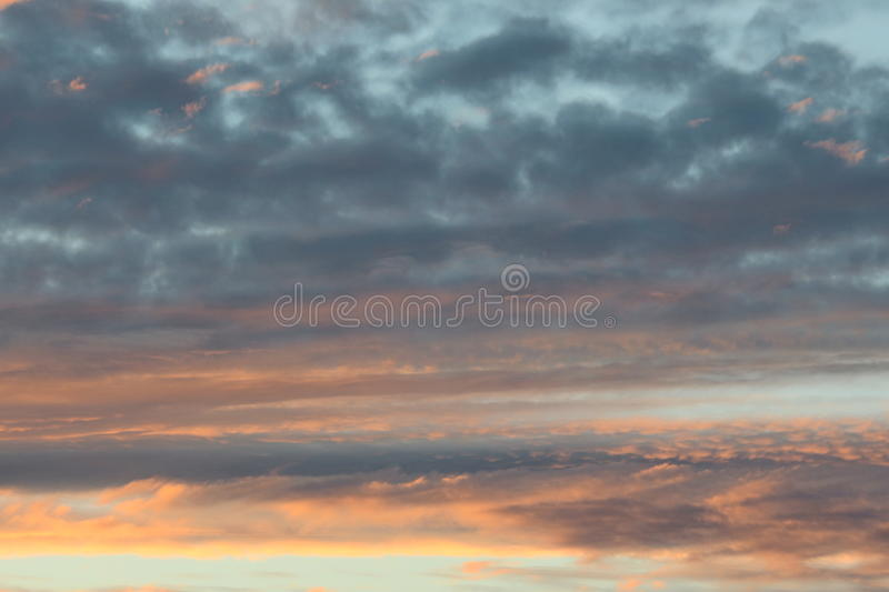 Sunset Clouds royalty free stock image