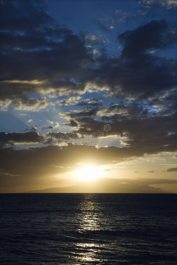 Download Sunset And Clouds Over Ocean. Stock Photography - Image: 2045152