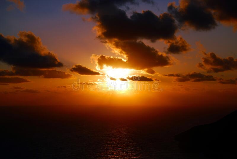 Sunset And Clouds Over Sea Free Public Domain Cc0 Image