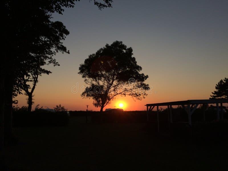 A Warm Summer Danish Sunset royalty free stock photo