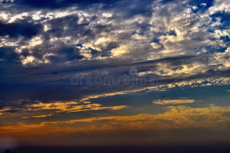 Sunset-clouds stock image