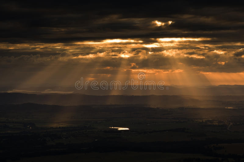 Sunset And Cloudscape Stock Image