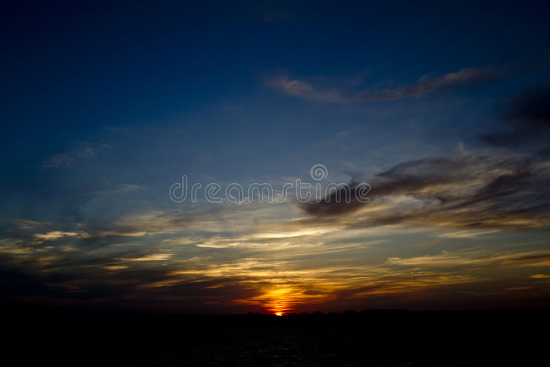 Sunset And Cloudscape Stock Images