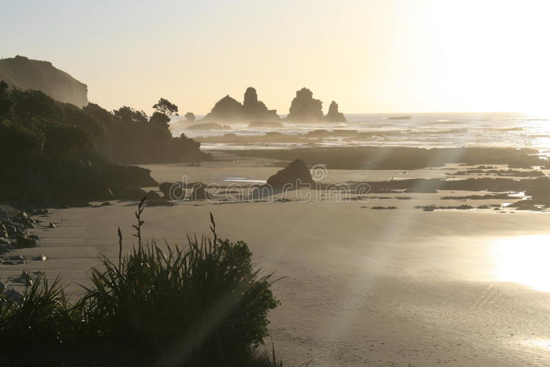 sunset coast royalty free stock photos
