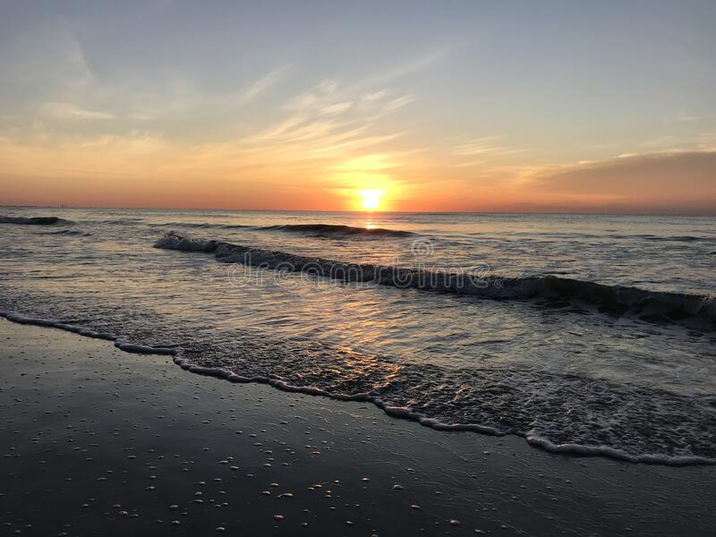 Sunset in Cocoa Beach Florida. Photo image stock images