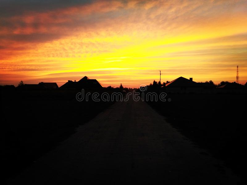 Sunset color royalty free stock image