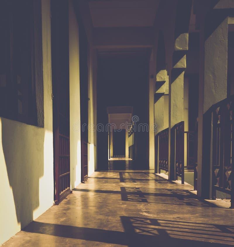 Sunset corridor... stock photography