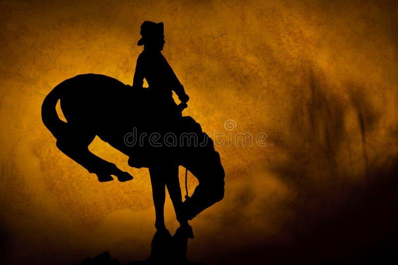 Sunset Cowboy stock image