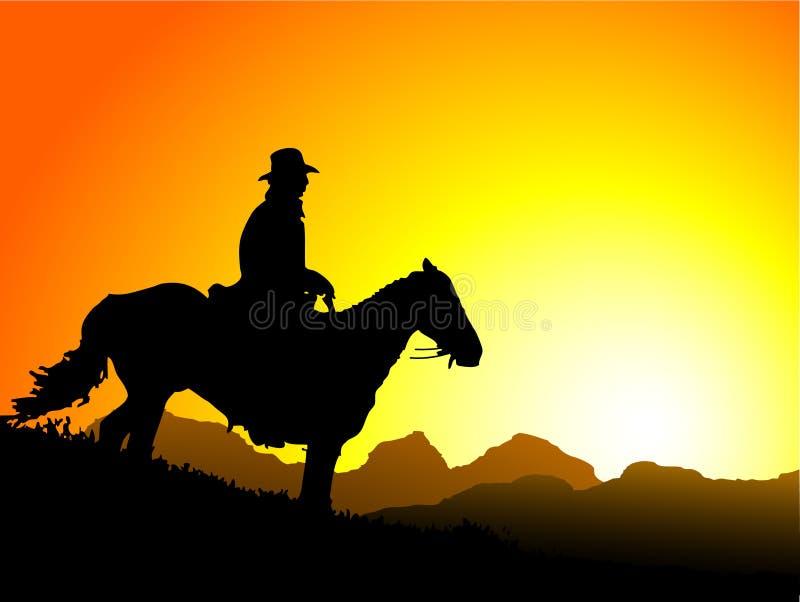 Sunset Cowboy Stock Images