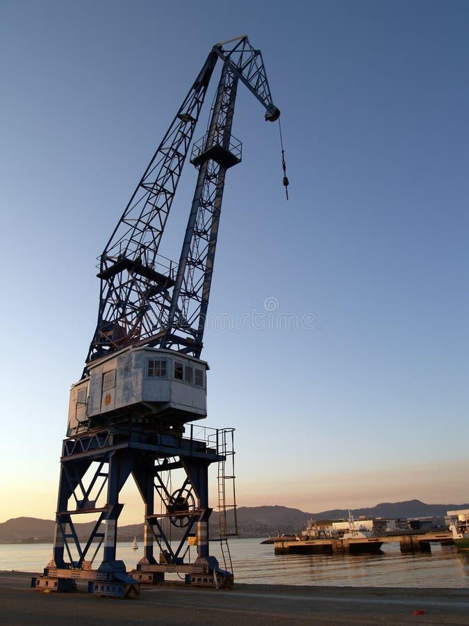 Sunset cranes iv royalty free stock photo