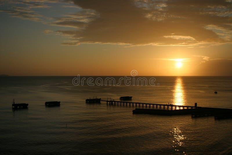 Sunset at Crash Boats Beach. In Aguadilla Puerto Rico stock photos