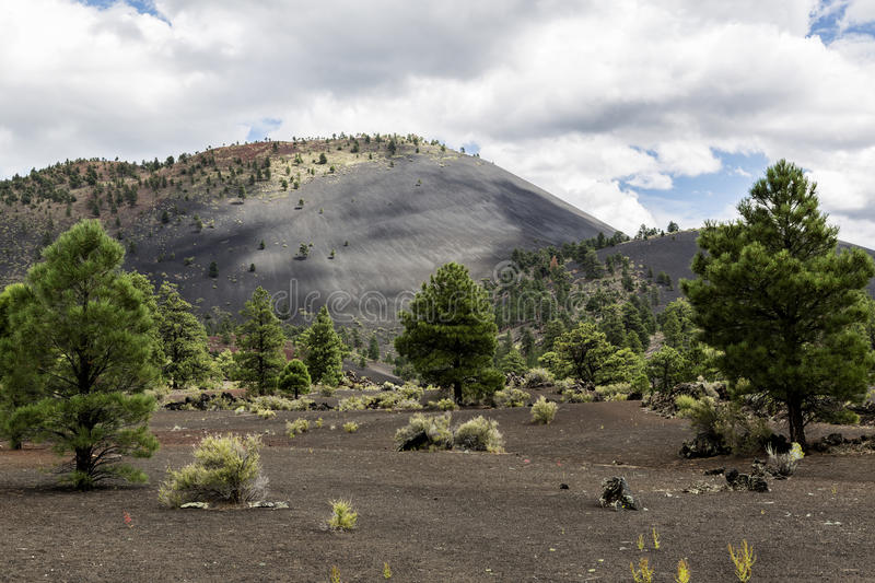Sunset Crater Volcano Cinder Cone royalty free stock image