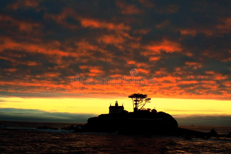Sunset in Crescent City royalty free stock image