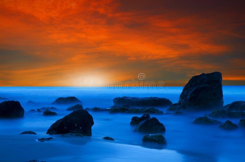Sunset In Crete Stock Image