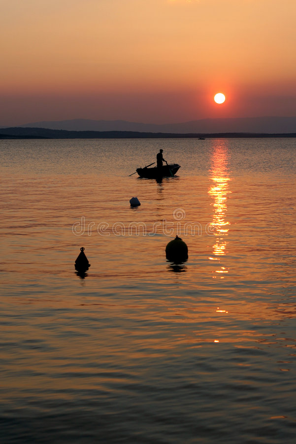 Sunset In Croatia Royalty Free Stock Image