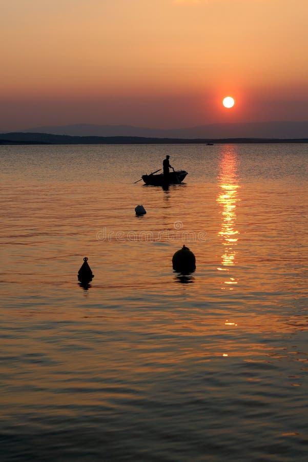 Sunset in Croatia royalty free stock image