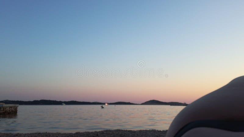 Sunset in Croatia stock photography