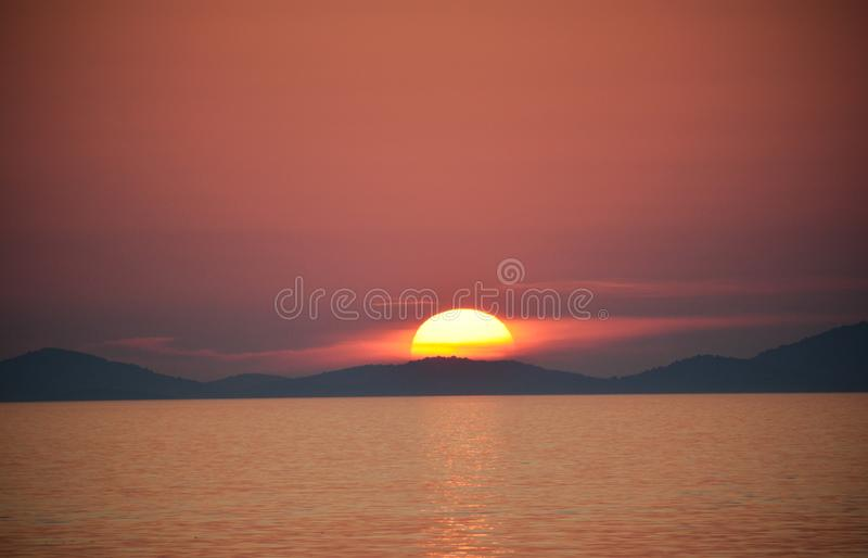 sunset croatia obraz royalty free