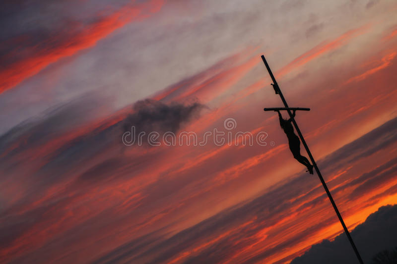 Download Sunset Cross stock image. Image of evening, religion - 33233463