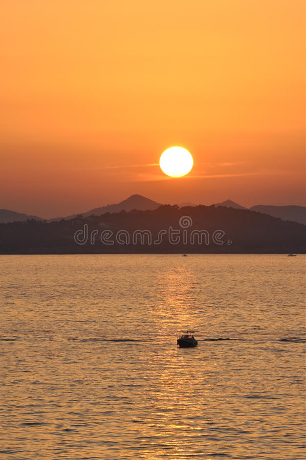 Sunset In Crotia Stock Photography