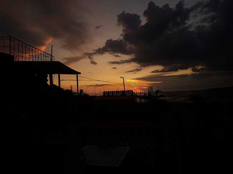 Sunset in cuba stock photos