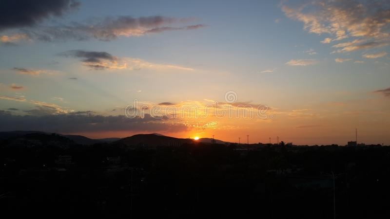 Sunset in Cumaná stock photography